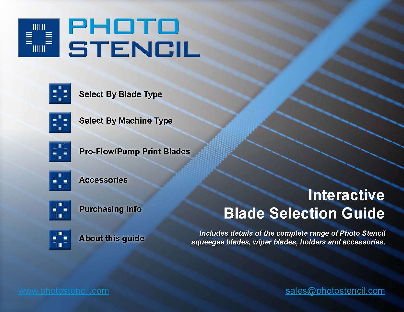 Photo Stencil Introduces Interactive Squeegee Blade Selection Guide